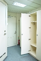 Locker and wetroom in the 4 man cabin